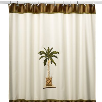 Banana Palm Shower Curtain