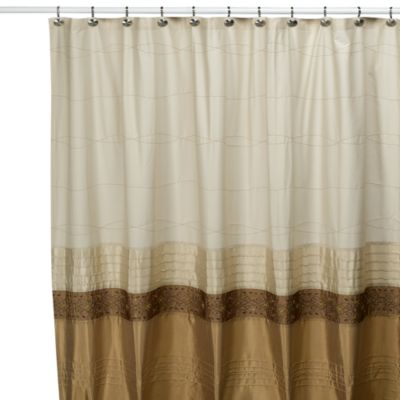 KAS Romana 54-Inch W x 78-Inch L Stall Fabric Shower Curtain
