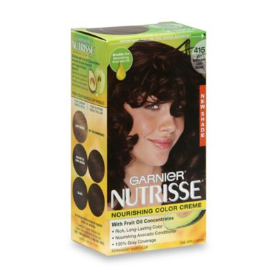 Garnier® Nutrisse Nourishing Color Crème in 415 Soft Mahogany Dark Brown