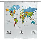 The World Vinyl Shower Curtain