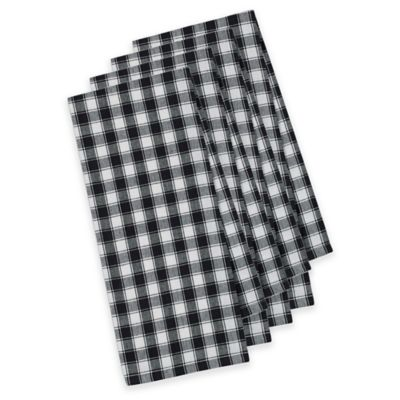 French Check Kitchen Towels (Set of 4)