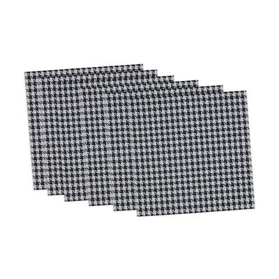 Houndstooth Placemats in Black/White (Set of 6)