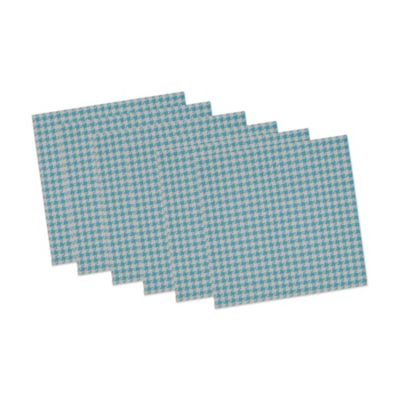 Houndstooth Placemats in Blue/White (Set of 6)