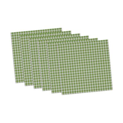 Houndstooth Placemats in Green/White (Set of 6)