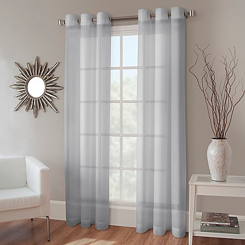 Crushed Voile Grommet Top Sheer Window Curtain Panel Www