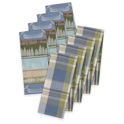 Lake House Plaid Dish Towels (Set of 4)