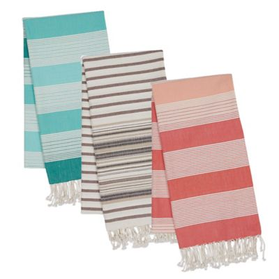 Striped Fouta Towel in Blue