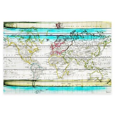 Parvez Taj Jet Setting 45-Inch x 30-Inch White Wood Wall Art