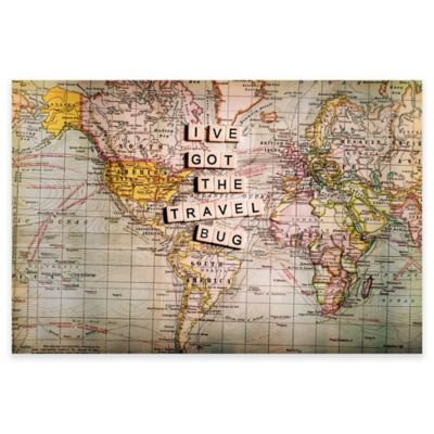 "Marmont Hill ""I've Got The Travel Bug"" 45-Inch x 30-Inch Canvas Wall Art"