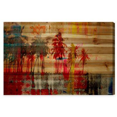 Parvez Taj Abbott Kinney 60-Inch x 40-Inch Reclaimed Wood Wall Art