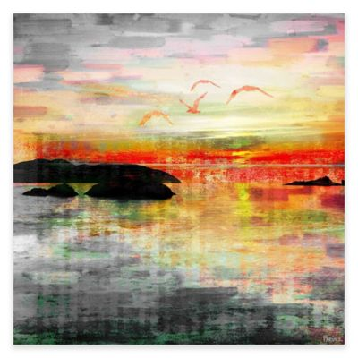 Parvez Taj Birds In The Sunset 40-Inch x 40-Inch Canvas Wall Art
