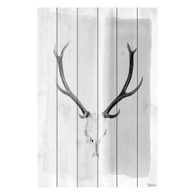 Parvez Taj Head Gear 60-Inch x 40-Inch White Wood Wall Art