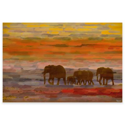 Parvez Taj Herd Walking 60-Inch x 40-Inch Canvas Wall Art