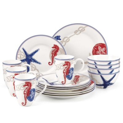 Lenox® Oceanside 16-Piece Dinnerware Set