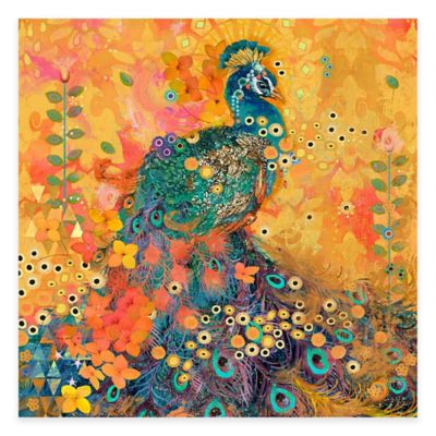 Marmont Hill AfriKarma Peacock 48-Inch x 48-Inch Canvas Wall Art