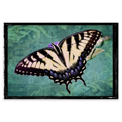 Marmont Hill Sparkling Tiger Swallowtail 30-Inch x 20-Inch Canvas Wall Art