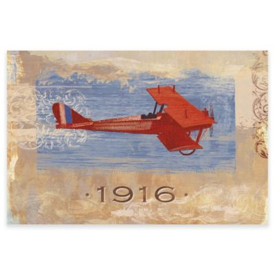 Marmont Hill Vintage Plane 1916 24-Inch x 16-Inch Canvas Wall Art