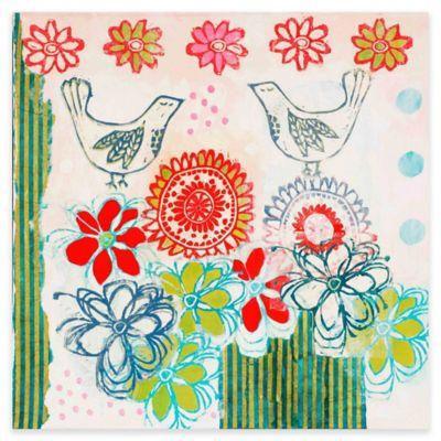 Parvez Taj Bluebirds 48-Inch x 48-Inch Canvas Wall Art