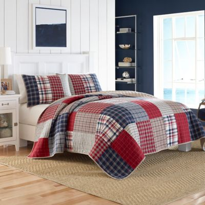 Navy Red Quilt