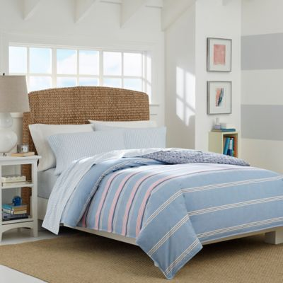 Nautica® Destin Queen Comforter Set in Pastel Blue