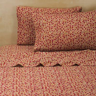 Brooklyn Flat Mizu Twin Sheet Set in Red