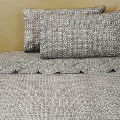 Brooklyn Flat Kira Twin Sheet Set in Grey