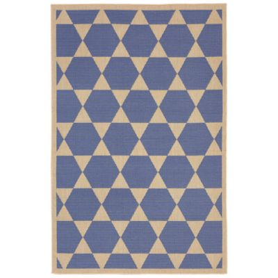 Liora Manne Agra Tile 1-Foot 11-Inch x 2-Foot 11-Inch Indoor/Outdoor Accent Rug in Marine