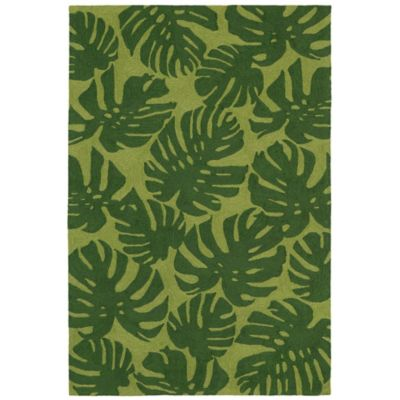 Trans-Ocean Capri Fronds 5-Foot x 7-Foot 6-Inch Indoor/Outdoor Area Rug in Green