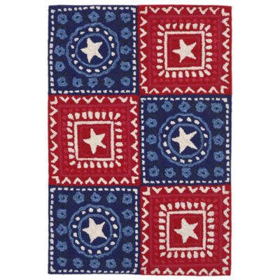 Trans Ocean Front Porch Bandana 1-Foot 7-Inch x 2-Foot 5-Inch Indoor/Outdoor Rug