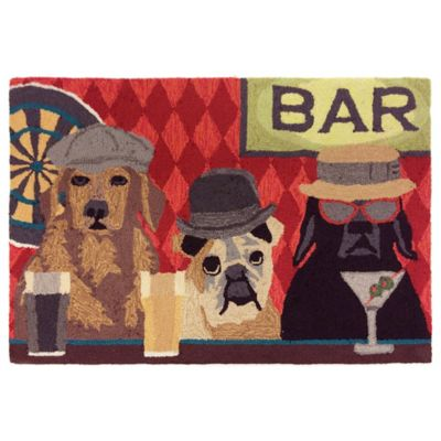 Trans Ocean Front Porch Bar Patrol Port 1-Foot 7-Inch x 2-Foot 5-Inch Indoor/Outdoor Rug