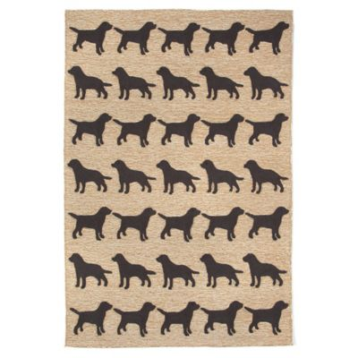 Trans-Ocean 5-Foot x 7-Foot 6-Inch Front Porch Doggies Rug