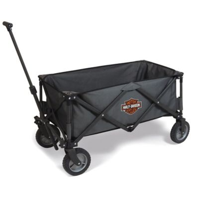 Picnic Time® Harley-Davidson Collapsible Adventure Wagon in Dark Grey
