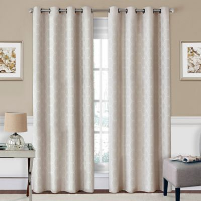 SolarShield® Coleman 63-Inch Grommet Top Room-Darkening Window Curtain Panel in Ivory