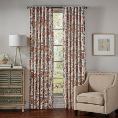 SolarShield® Lowell 63-Inch Rod Pocket/Back Tab Room-Darkening Window Curtain Panel in Red