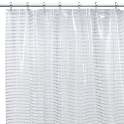White Vinyl Shower Curtain