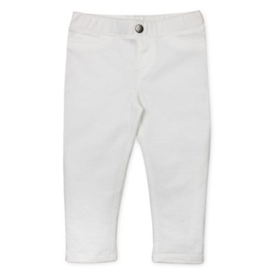 Burt's Bees Baby® Size 6M Organic Cotton Capri Jegging in White