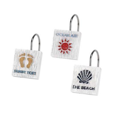 Avanti Beach Words Shower Curtain Hooks