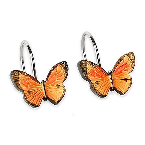 Butterfly Bliss Shower Curtain Hooks Set Of 12