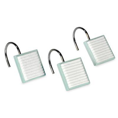 DKNY Highline Stripe Shower Curtain Hooks (Set of 12)