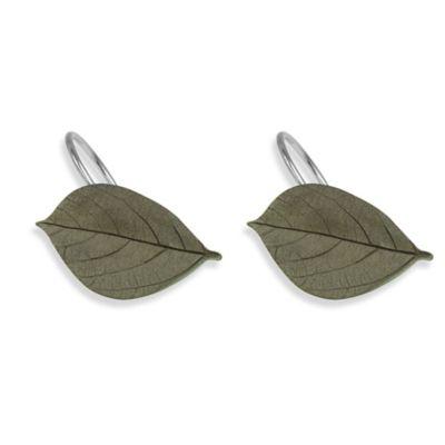 Bacova Aspen Leaves Shower Curtain Hooks (Set of 12)