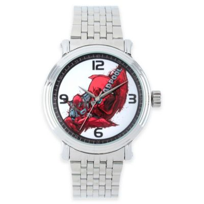 Marvel® Deadpool Men's 44mm Mask Vintage Watch in Stainless Steel