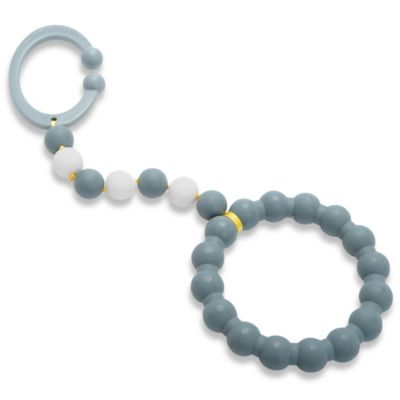 Chewbeads Baby Gramercy Teether Stroller Toy in Grey