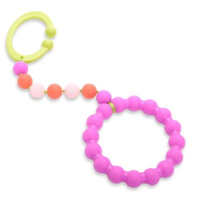 Chewbeads Baby Gramercy Teether Stroller Toy in Pink