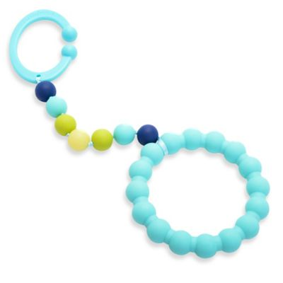 Chewbeads Baby Gramercy Teether Stroller Toy in Turquoise