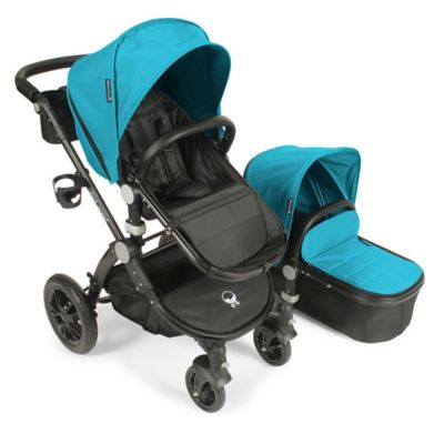 babyroues® Letour Avant Bassinet and Stroller Black Frame System in Teal