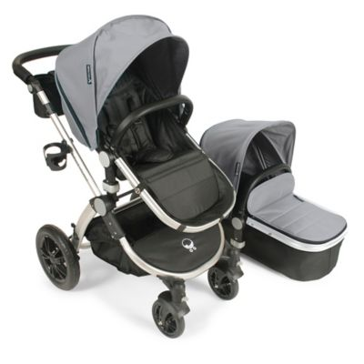 babyroues® Letour Avant Bassinet and Stroller Silver Frame System in Silver