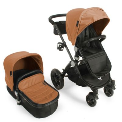 babyroues® Letour Avant Bassinet and Stroller Black Frame System in Camel