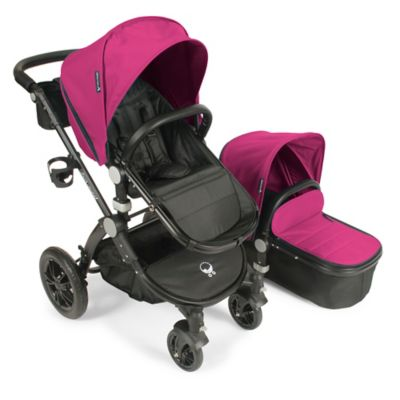 babyroues® Letour Avant Bassinet and Stroller Black Frame System in Pink