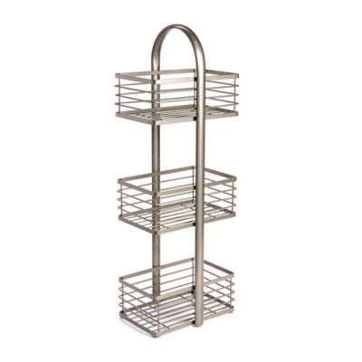 3-Tier Bathroom Spa Tower in Matte Nickel