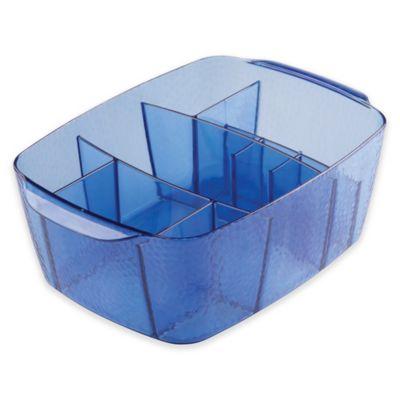 InterDesign® Rain Divided Cosmetic Bin in Regatta Blue